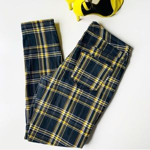 WILD FABLE Plaid Skinny Jeans 🖤💛